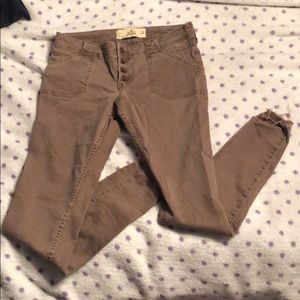 Hollister Super Skinny Maroon jeans